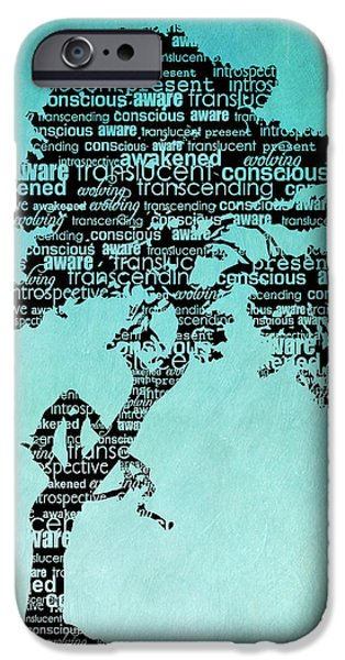 Self Awareness iPhone Cases - Bodhi Tree of Awareness iPhone Case by Tammy Wetzel