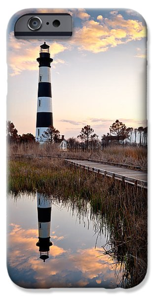 Dave iPhone Cases - Bodie Island Lighthouse - Cape Hatteras Outer Banks NC iPhone Case by Dave Allen