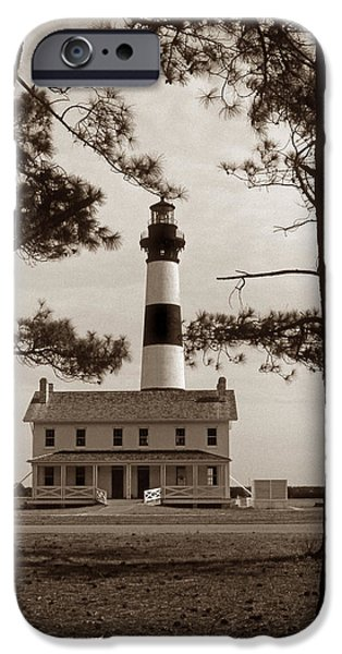 Nc iPhone Cases - Bodie Island Lighthouse iPhone Case by Skip Willits