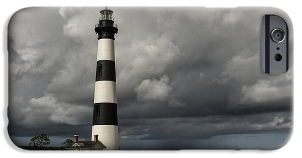 Sea Watch iPhone Cases - Bodie Island Lighthouse Stands Tall iPhone Case by Terry Rowe