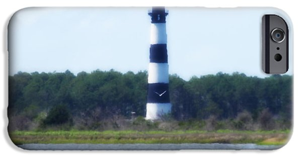 Lighthouse iPhone Cases - Bodie Light And Birds iPhone Case by Cathy Lindsey