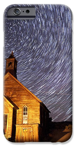 Bodie Star Trails iPhone Case by Cat Connor