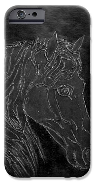 Horse Reliefs iPhone Cases - Bodo iPhone Case by Rosemarie Pfister
