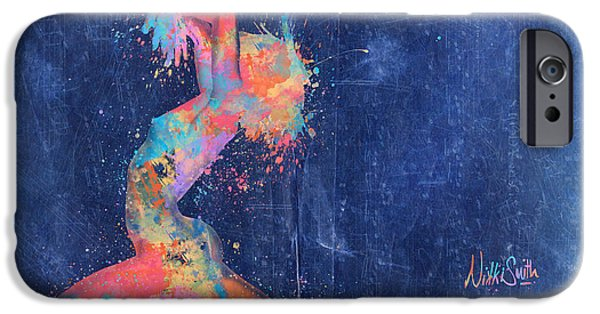 Forms Digital Art iPhone Cases - Bodyscape in D Minor - Music of the Body iPhone Case by Nikki Marie Smith