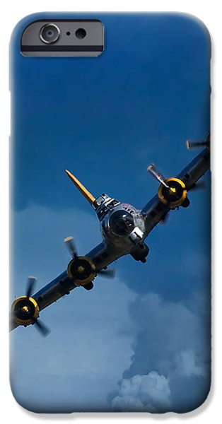 Boeing B-17 Flying Fortress iPhone Case by Adam Romanowicz