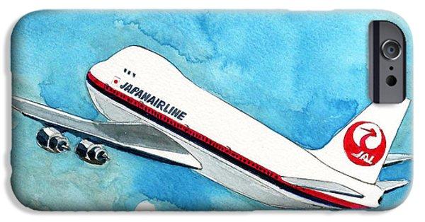 Boeing 747 iPhone Cases - Boeing 747 Jumbo iPhone Case by Yoshiharu Miyakawa