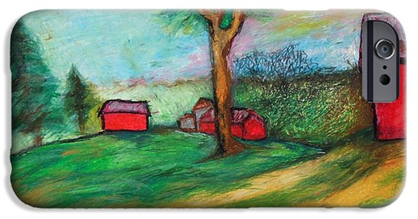 Outdoors Pastels iPhone Cases - Boerjans Farm iPhone Case by Jon Kittleson
