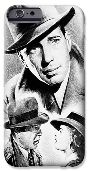 Film Noir iPhone Cases - Bogart iPhone Case by Andrew Read