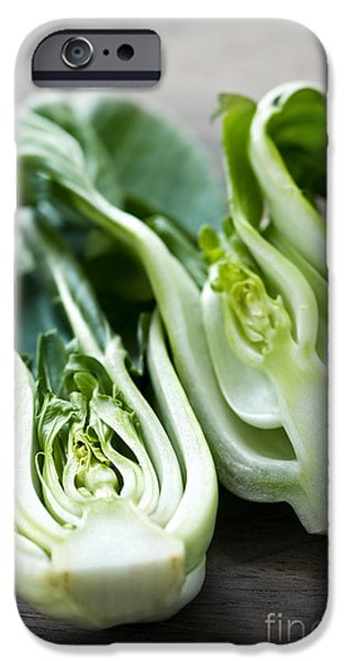 Slices iPhone Cases - Bok choy iPhone Case by Elena Elisseeva