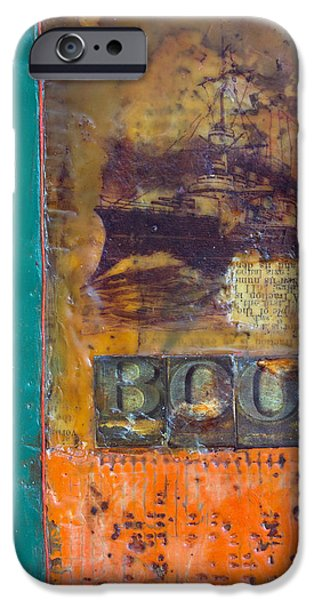 Book Cover Encaustic iPhone Case by Bellesouth Studio