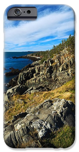 Quoddy iPhone Cases - Bold Coast 3 iPhone Case by Bill Caldwell -        ABeautifulSky Photography