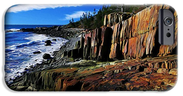 Quoddy iPhone Cases - Bold Coast 32 iPhone Case by Bill Caldwell -        ABeautifulSky Photography