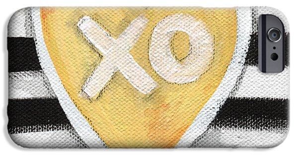 Pillow iPhone Cases - Bold Love iPhone Case by Linda Woods