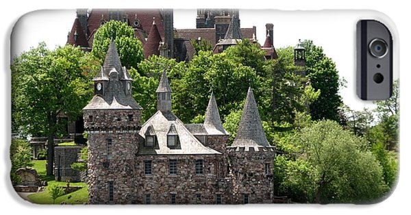 Artists4god iPhone Cases - Boldt Castle and Powerhouse iPhone Case by Rose Santuci-Sofranko