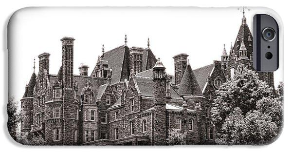 Historic Buildings iPhone Cases - Boldt Castle iPhone Case by Olivier Le Queinec