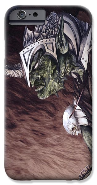 Jrr iPhone Cases - Bolg The Goblin King 2 iPhone Case by Curtiss Shaffer