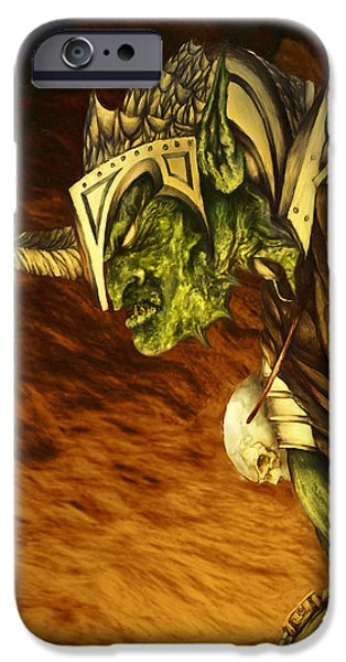 Curtiss iPhone Cases - Bolg The Goblin King iPhone Case by Curtiss Shaffer