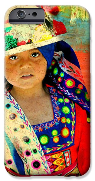 Little Girl iPhone Cases - Bolivian Child iPhone Case by Diana Angstadt