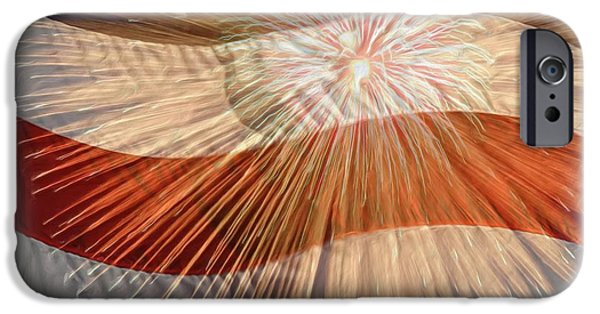 4th July Photographs iPhone Cases - Bombs Bursting In Air iPhone Case by Heidi Smith