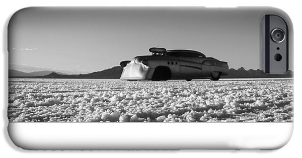 Dry Lake Photographs iPhone Cases - Bombshell Betty - Metal and Speed iPhone Case by Holly Martin