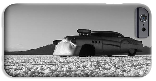 Dry Lake iPhone Cases - Bombshell Buick - Metal and Speed iPhone Case by Holly Martin