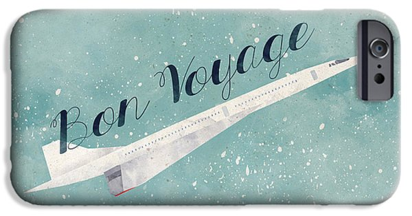 Flight iPhone Cases - Bon Voyage iPhone Case by Randoms Print