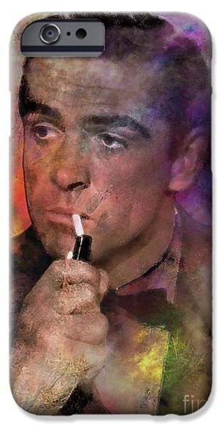 Dr. J iPhone Cases - Bond - James Bond iPhone Case by John Robert Beck