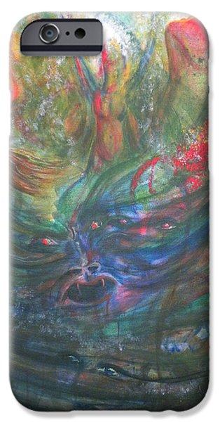 Inner Self Paintings iPhone Cases - Bondage Broken iPhone Case by Sheri Lauren Schmidt