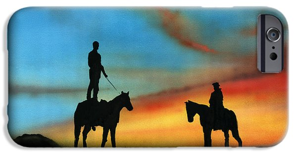 Bonding Paintings iPhone Cases - Bonding 2 iPhone Case by Luis  Navarro