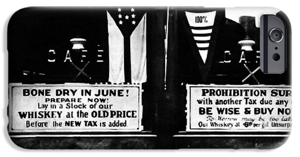 Bones iPhone Cases - Bone Dry in June - Prohibition Sale iPhone Case by Bill Cannon