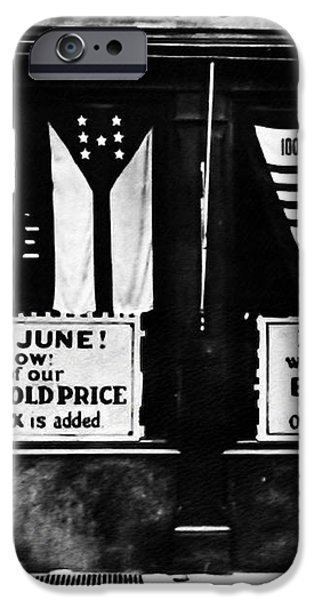 Bone Dry in June - Prohibition Sale iPhone Case by Bill Cannon
