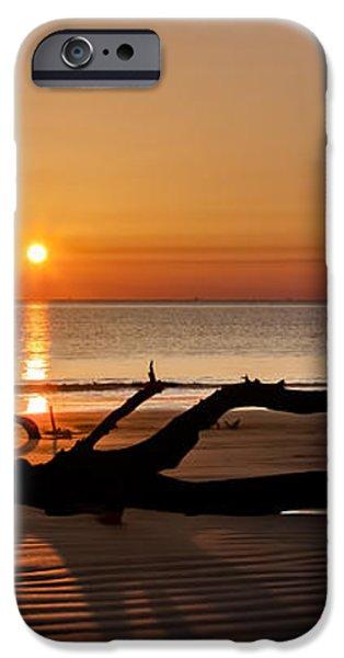 Bones Beach Sunrise iPhone Case by Debra and Dave Vanderlaan