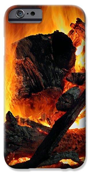 Bonfire  iPhone Case by Chris Berry