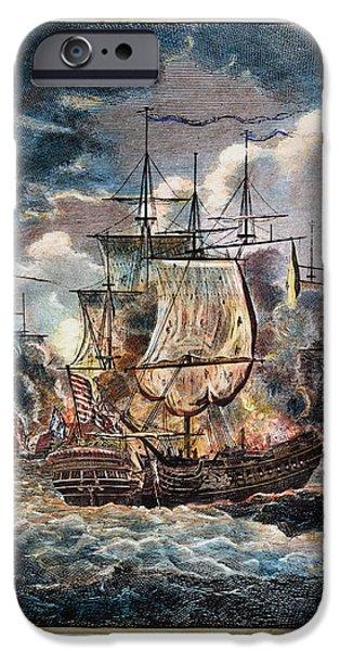 BONHOMME RICHARD, 1779 iPhone Case by Granger