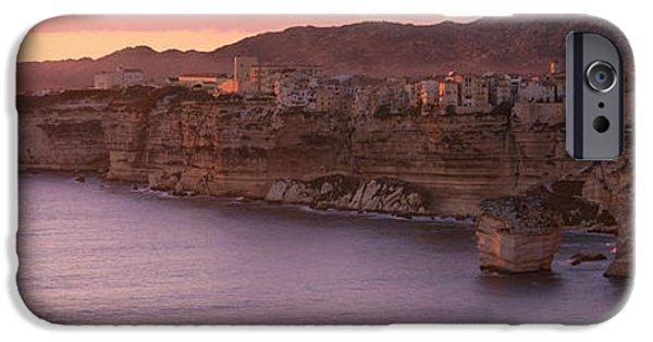 Stratum iPhone Cases - Bonifacio Corsica France iPhone Case by Panoramic Images