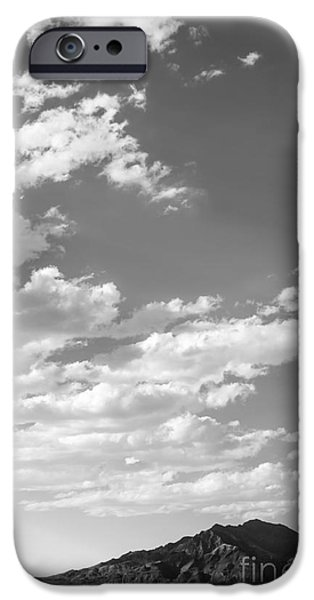Black And White Landscapes iPhone Cases - Bonneville Salt Flats iPhone Case by Holly Martin