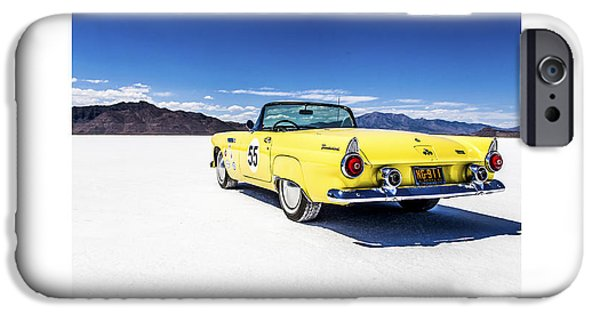 Dry Lake iPhone Cases - Bonneville T-bird iPhone Case by Holly Martin