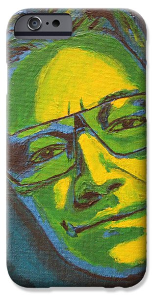 U2 Paintings iPhone Cases - Bono iPhone Case by John Hooser