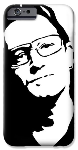 U2 Paintings iPhone Cases - Bono iPhone Case by Monofaces
