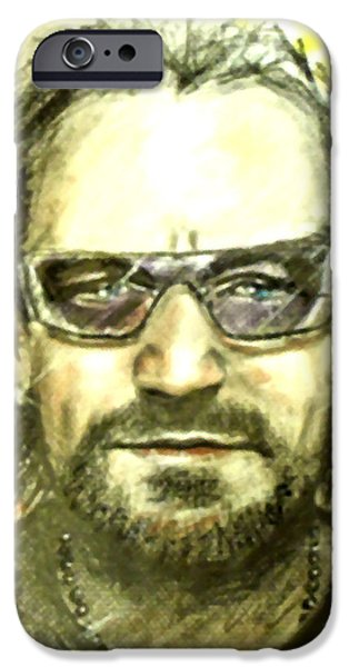 Buy Pastels iPhone Cases - Bono - U2 iPhone Case by Marcello Cicchini