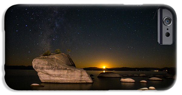 Astrophotography iPhone Cases - Bonsai Rock Lake Tahoe iPhone Case by Scott McGuire