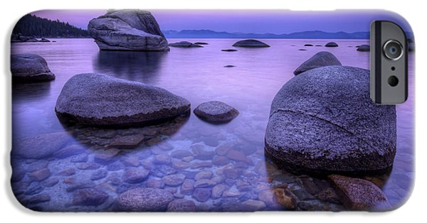 Lake Tahoe iPhone Cases - Bonsai Rock iPhone Case by Sean Foster
