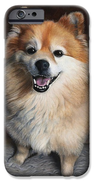Puppies iPhone Cases - Boo 2 iPhone Case by Dee Dee  Whittle