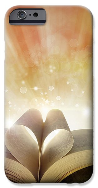 Heaven Photographs iPhone Cases - Book love iPhone Case by Les Cunliffe