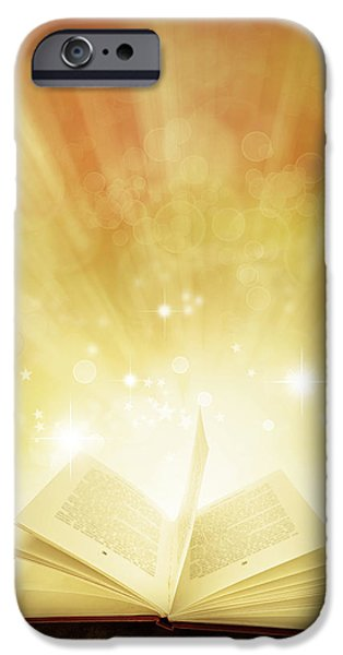 Open iPhone Cases - Book of dreams iPhone Case by Les Cunliffe