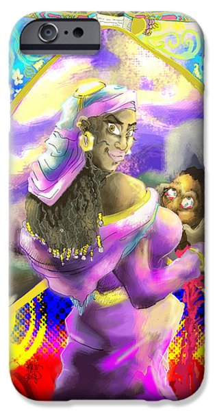 Book Pastels iPhone Cases - Book of Judith iPhone Case by Ronnell Williams