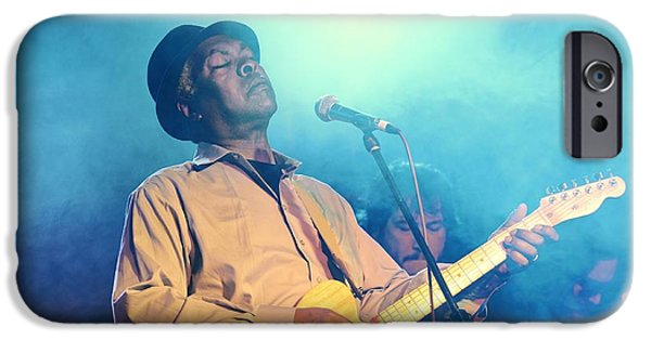 Booker T. iPhone Cases - Booker T Jones US blues singer musician performing at Maryport Blues Festival  2010 England iPhone Case by David Lyons