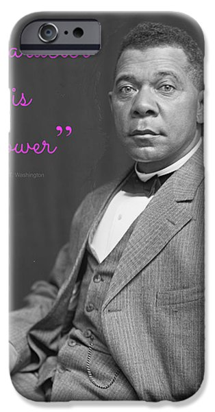 Booker T. iPhone Cases - Booker T. Washington 1895 iPhone Case by Padre Art