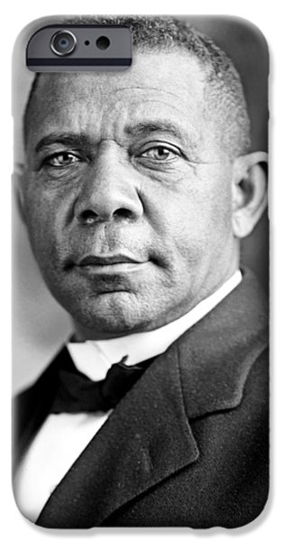 Booker T. iPhone Cases - Booker T Washington iPhone Case by Mountain Dreams