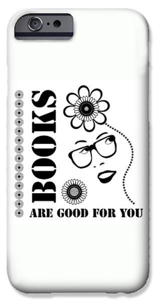 Art Nouveau Style iPhone Cases - Books Are Good For You iPhone Case by Frank Tschakert
